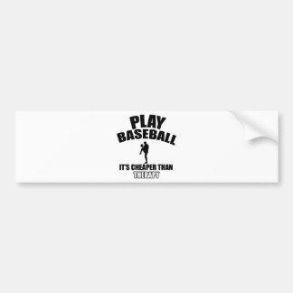 Baseball player designs bumper sticker