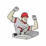 Baseball Player Embroidered Hoodie