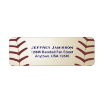Baseball Player, Fan Name and Address Label