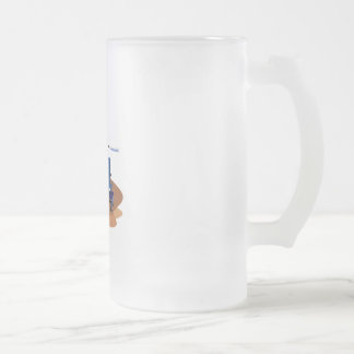 Baseball Player Frosted Glass Beer Mug