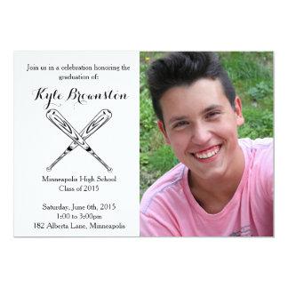 Baseball Player Graduation Party Photo Invite
