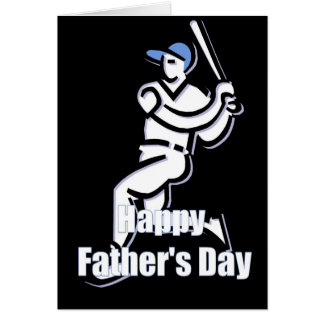 Baseball Player Happy Father's Day Greeting Card