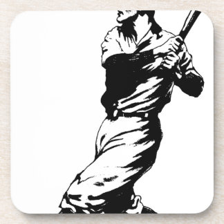 Baseball Player Hit Drink Coaster