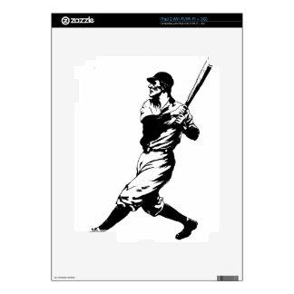 Baseball Player Hit iPad 2 Decals