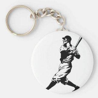 Baseball Player Hit Keychain