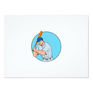 Baseball Player Holding Bat Drawing Card