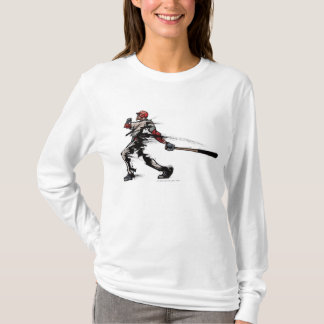 Baseball player holding bat, side view T-Shirt