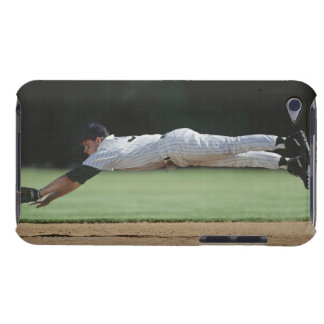 Baseball player in mid-air catching ball. barely there iPod case