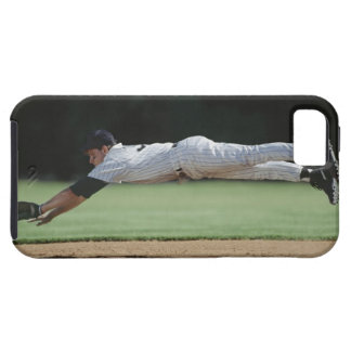 Baseball player in mid-air catching ball. iPhone SE/5/5s case