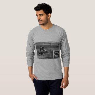 Baseball Player Initial S Rhyme Vintage Short Stop T-Shirt