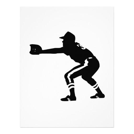 Baseball Player Letterhead Design