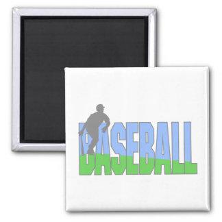 Baseball Player Logo Magnet