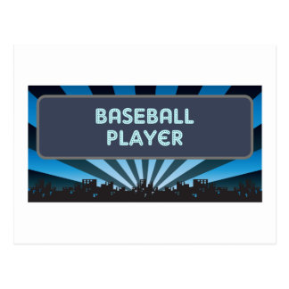 Baseball Player Marquee Postcard