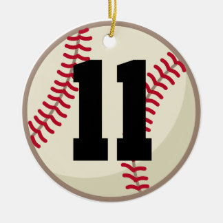 Baseball Player Number 11 Ornament