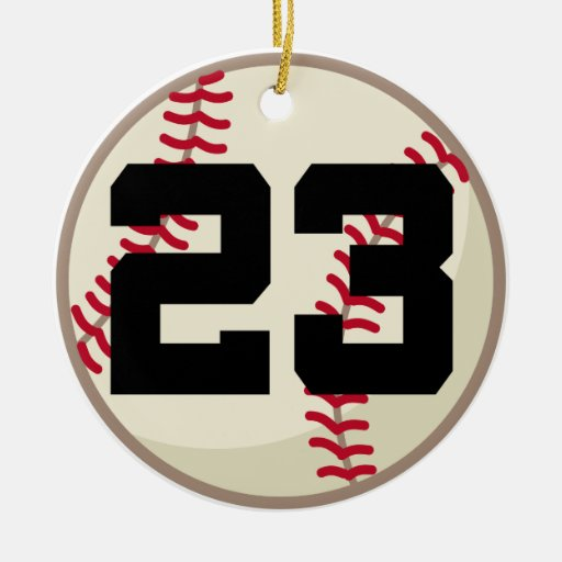 Baseball Player Number 23 Ornament