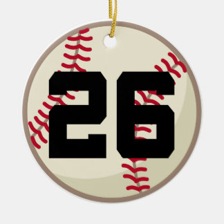 Baseball Player Number 26 Ornament