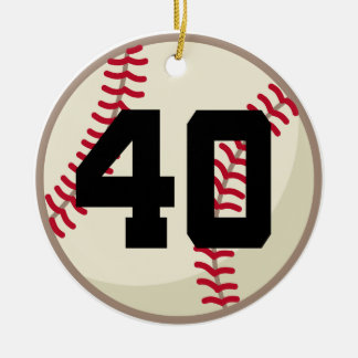 Baseball Player Number 40 Ornament