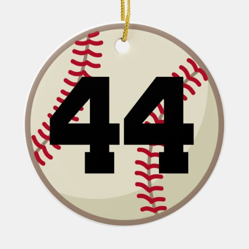 Baseball Player Number 44 Ornament