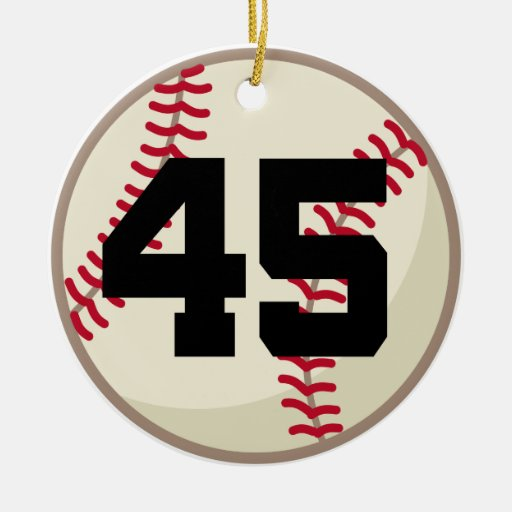 Baseball Player Number 45 Ornament