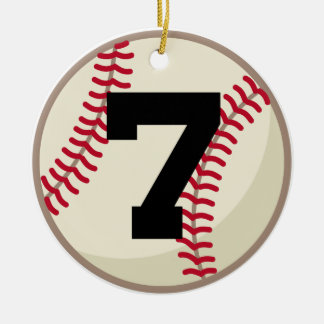 Baseball Player Number 7 Ornament