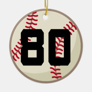 Baseball Player Number 80 Ornament