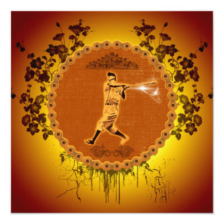 Baseball player on a round button card