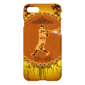 Baseball player on a round button iPhone 7 case