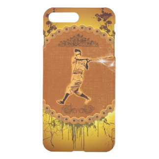Baseball player on a round button iPhone 7 plus case