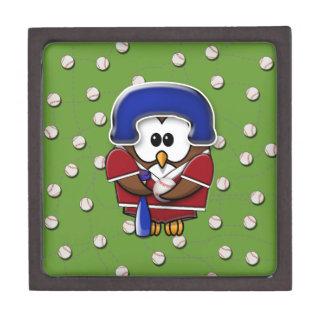 baseball player owl jewelry box
