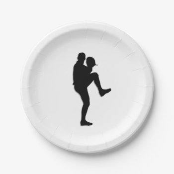 Baseball Player Pitcher Paper Plate