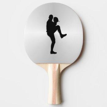 Baseball Player Pitcher Windup Ping-Pong Paddle