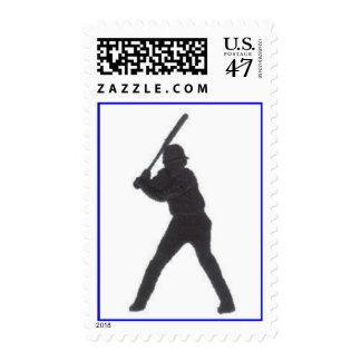 Baseball Player Postage Stamp