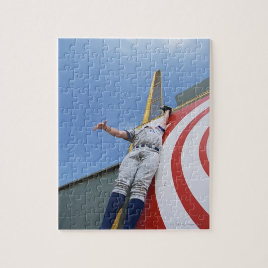 Baseball Player Reaching for Ball Jigsaw Puzzle