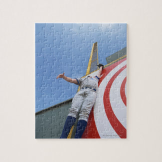 Baseball Player Reaching for Ball Jigsaw Puzzles