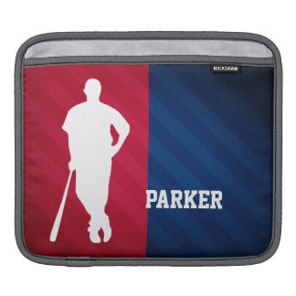 Baseball Player; Red, White, and Blue iPad Sleeve