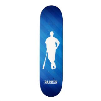 Baseball Player; Royal Blue Stripes Skate Boards