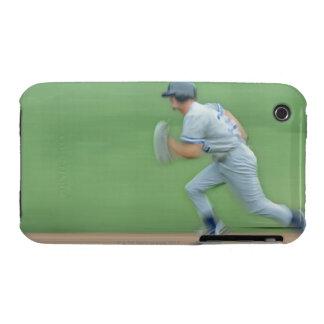 Baseball Player Running to Base iPhone 3 Case