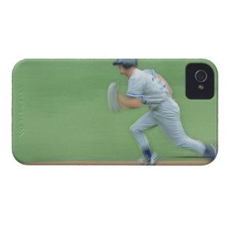 Baseball Player Running to Base iPhone 4 Case