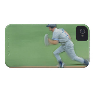 Baseball Player Running to Base iPhone 4 Covers