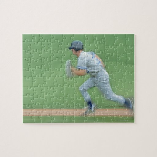 Baseball Player Running to Base Puzzle