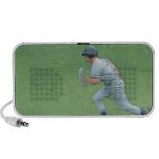 Baseball Player Running to Base Laptop Speaker