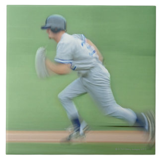 Baseball Player Running to Base Tile