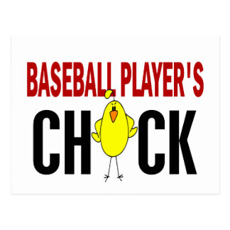 BASEBALL PLAYER'S CHICK POSTCARD