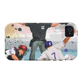 Baseball player safe at home plate case for the iPhone 4