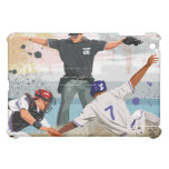 Baseball player safe at home plate iPad mini covers