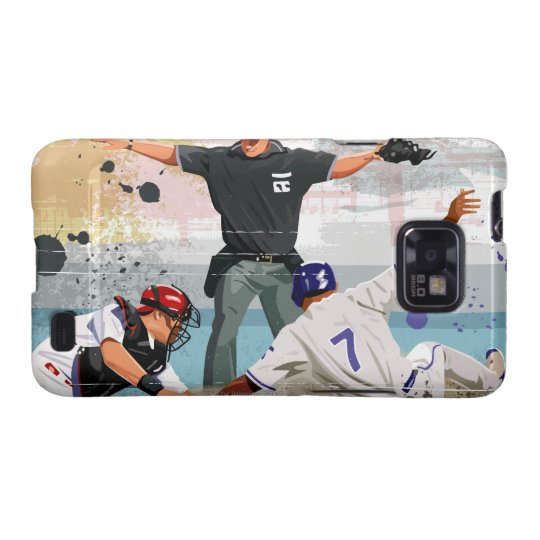 Baseball player safe at home plate samsung galaxy s2 cover