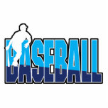 baseball player silhouette and text logo acrylic cut outs