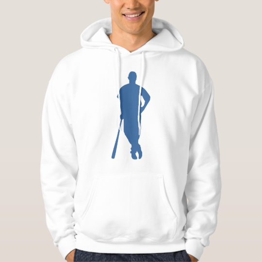 Baseball Player Silhouette Sweatshirt