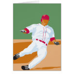 baseball player slide vector graphic greeting cards