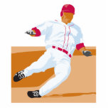 baseball player slide vector graphic cut out